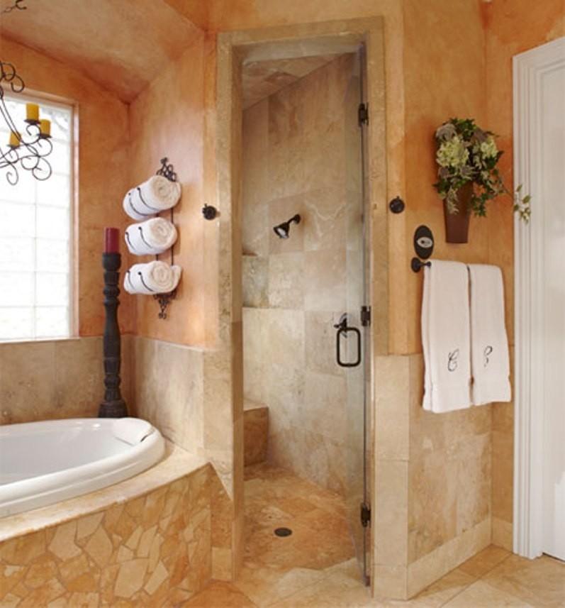 over shower door towel rack ideas on