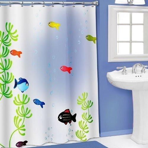 vinyl fish shower curtain ideas on foter