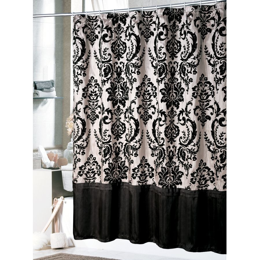 black and white shower curtain ideas