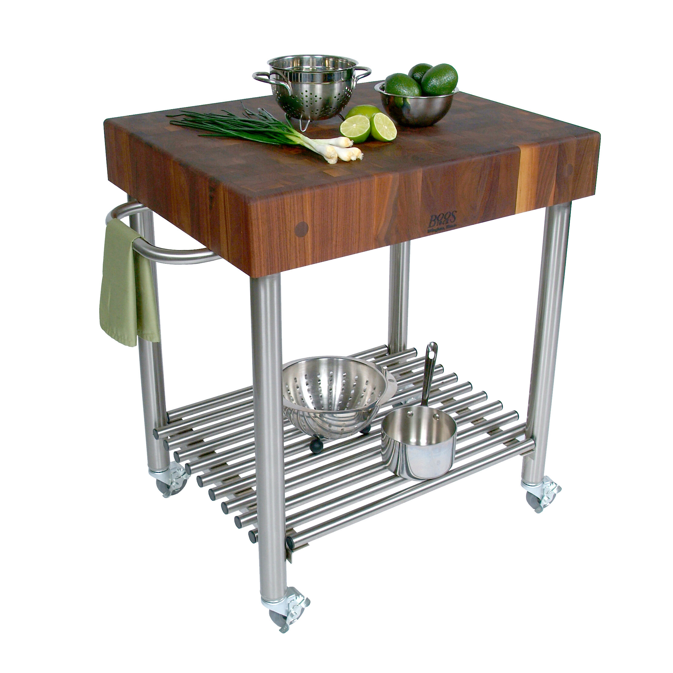 rolling butcher block cart ideas on foter
