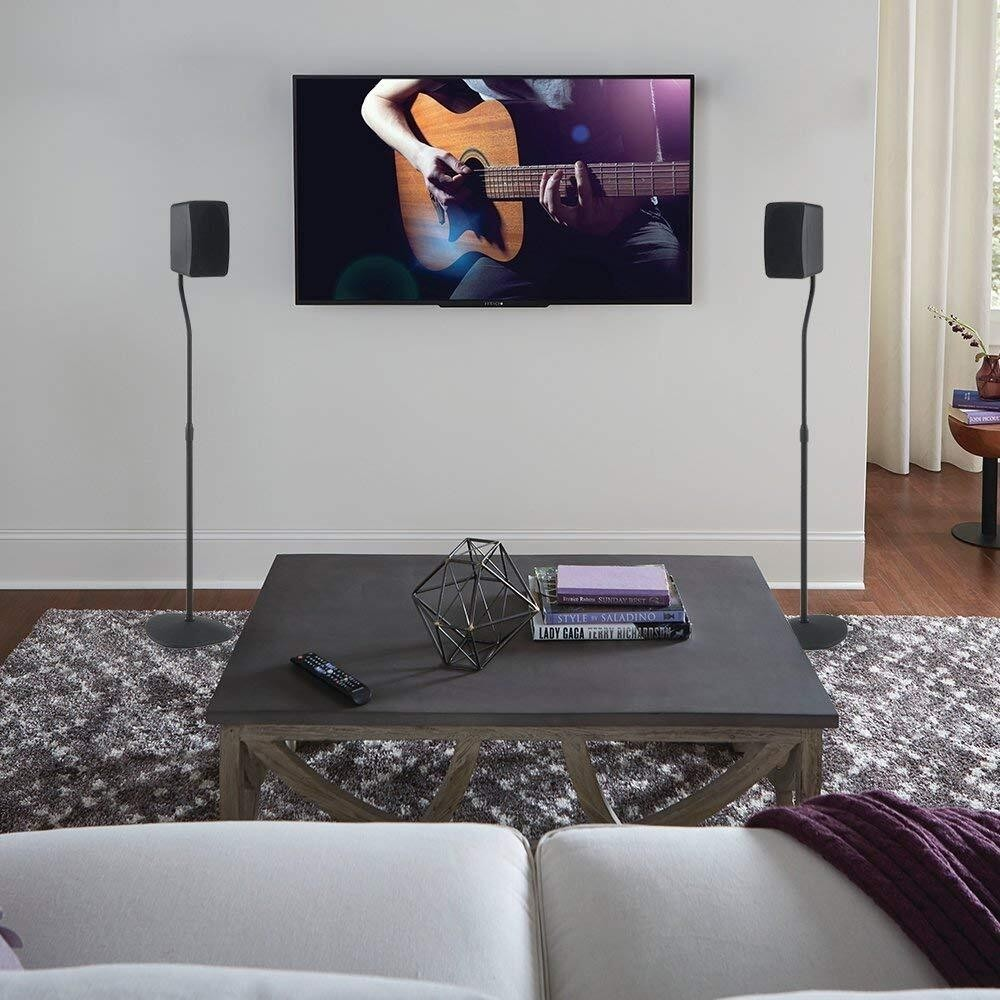L Shaped Adjustable Height Speaker Stand