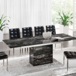 Black Marble Dining Table Set Ideas On Foter