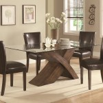 Glass Dining Table With Wood Base Ideas On Foter