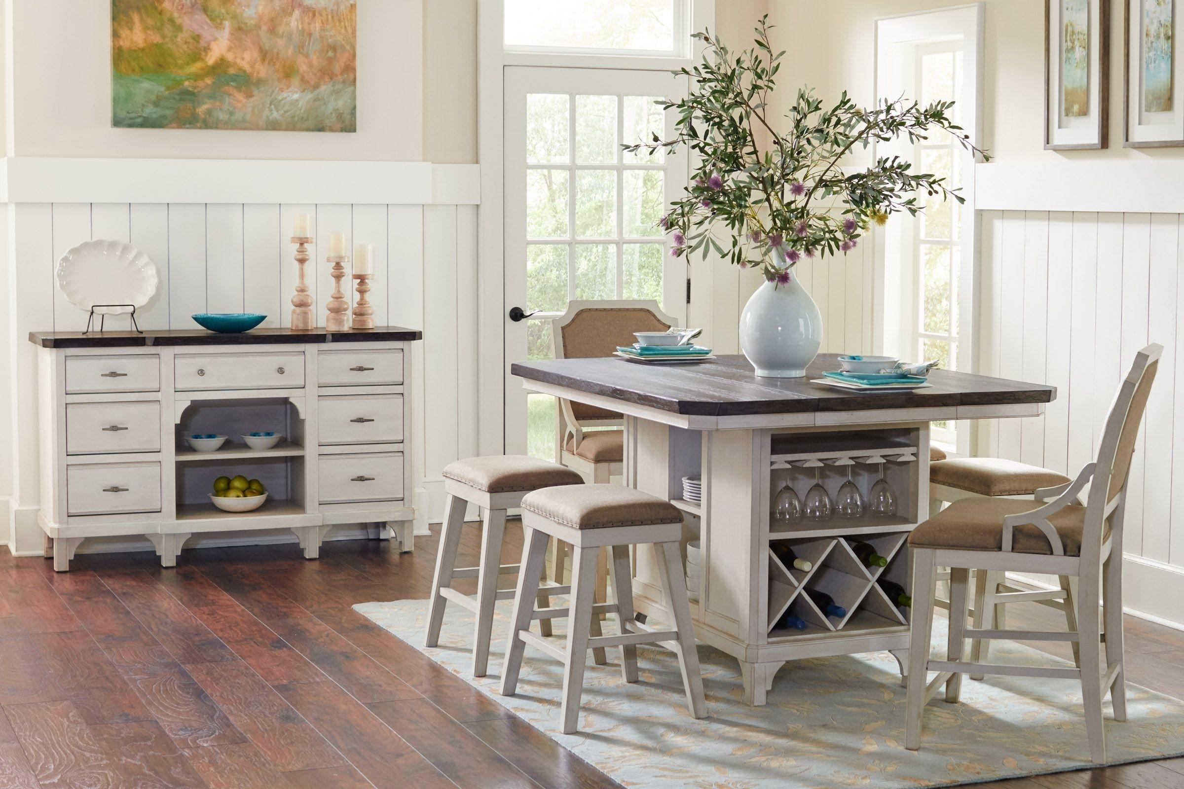 kitchen table with storage underneath