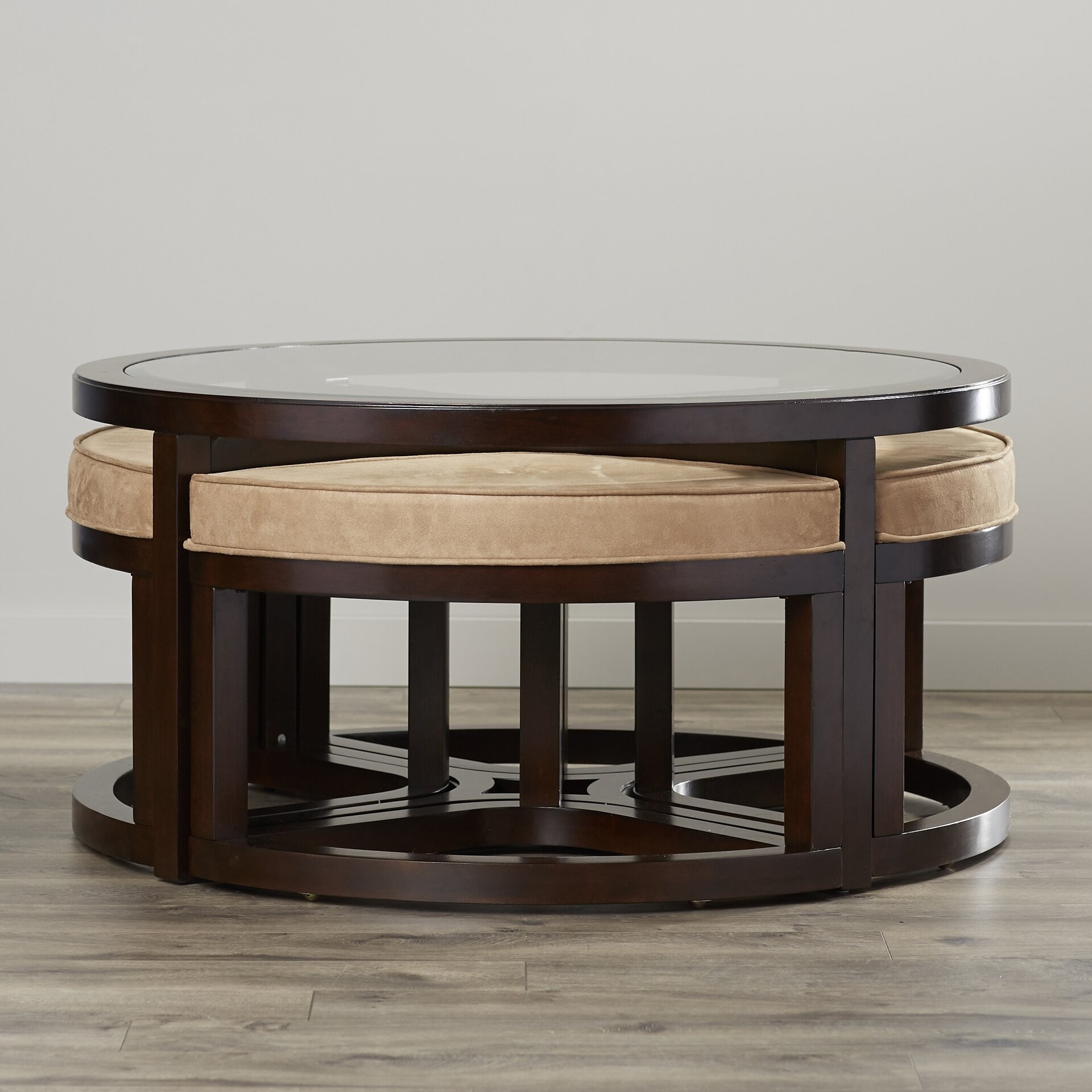 round coffee table with stools ideas