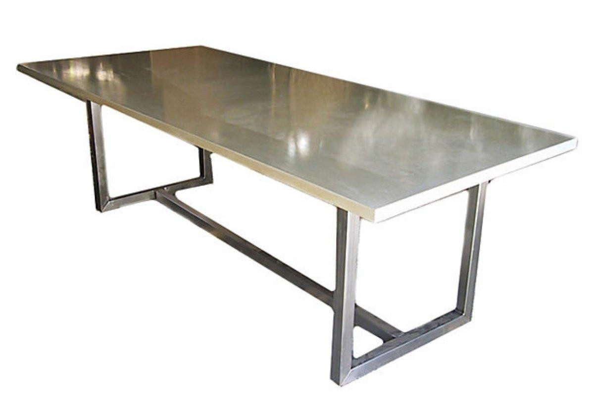 stainless steel top dining table