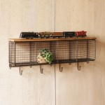 Wall Shelf With Hooks And Baskets Ideas On Foter