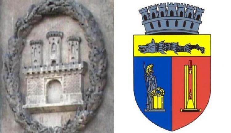 Kidobná a Funar-féle címert egy kolozsvári tanácsos