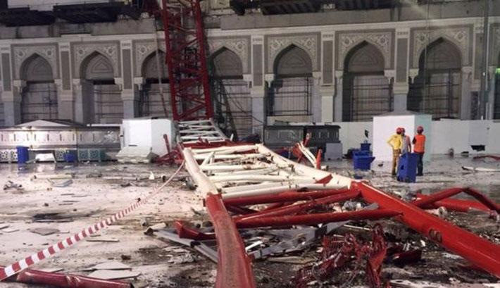 Daru zuhant a mekkai Nagymecsetre: több mint száz halott