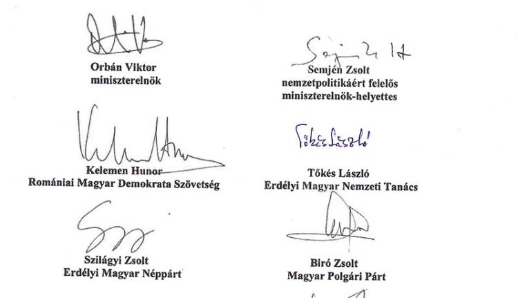 Tőkés mégis aláírta a Máért-nyilatkozatot