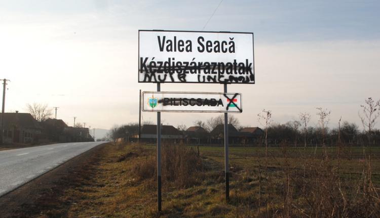 Háromszéki magyar helységnévtáblákat gyaláztak meg