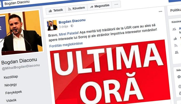 Bogdan Diaconu gratulált a politikusverő szociológusnak