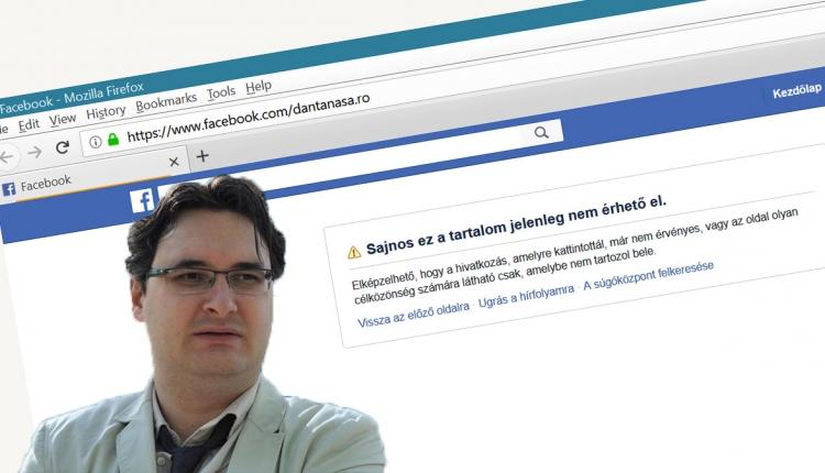 A Facebook törölte Dan Tanasă oldalát