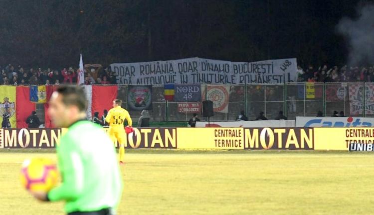 A Dinamo szurkolói ismét kiviselték magukat Sepsiszentgyörgyön