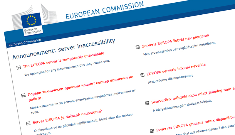 Hogy, hogy nem, leállt az EU szervere, ahol online lehet(ett) aláírni az SZNT kezdeményezését