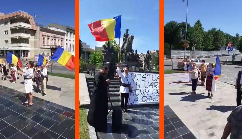 Az ügyeletes román vérnackó bagázs leruccant Sepsiszentgyörgyre, himnuszt énekelni (VIDEÓval)