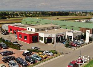 Luftbild von Autohaus Beck
