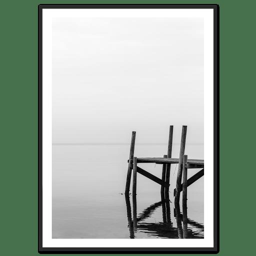 Stilhed sort hvid plakater