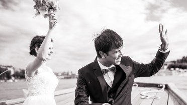 Hochzeitfoto-Basel-Rheinufer