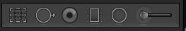 Lightroom Develop tool bar