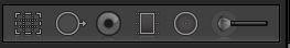 Lightroom Develop tool bar