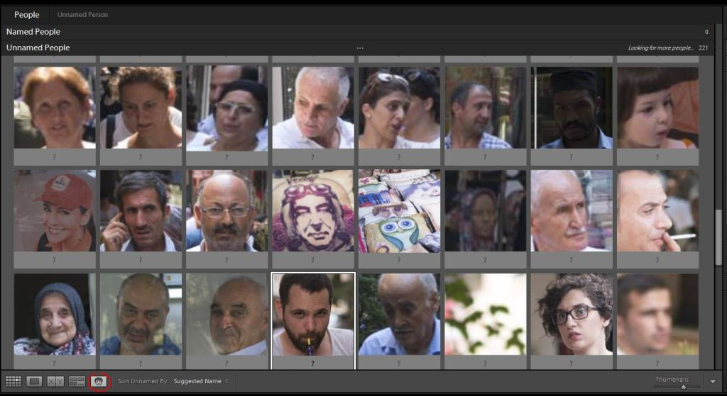 Lightroom Library panoul central People