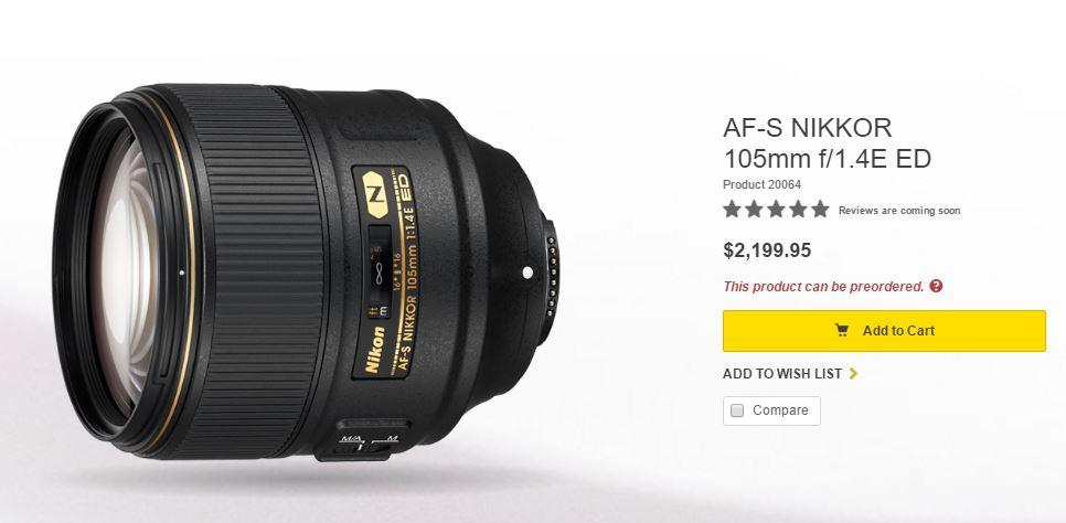 Nikon 105 1.4