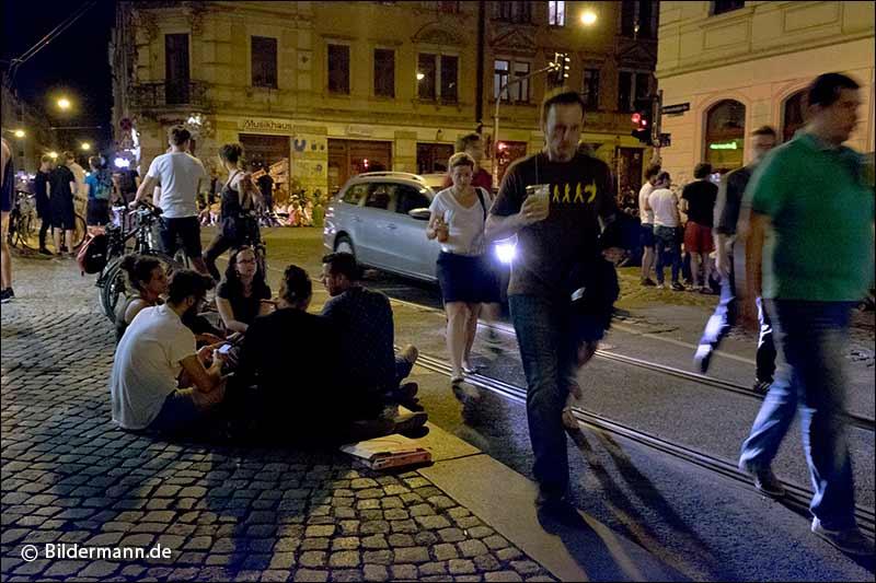 25.07.2015 | Nächtlicher Treff, Strassenkreuzung Görlitzer Str.