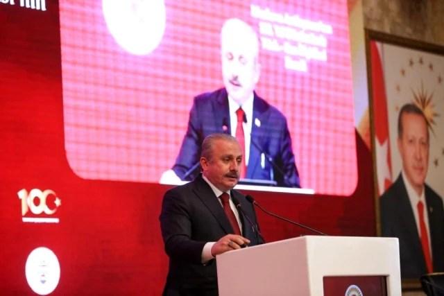 """TBMM Başkanı Şentop: """"Diplomatik ilişkilerin tesis edilmesinden bir sene sonra imzalanan bu antlaşmayla iki ülke, dayanışma içinde, birbirlerine..."""