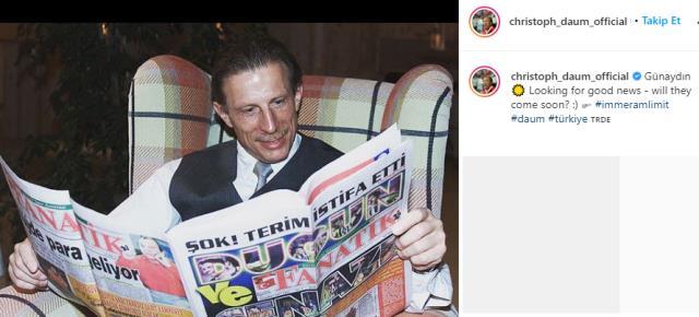Fenerbahçe'nin eski hocası Daum, Instagram'dan Fatih Terim'e çok konuşulacak bir gönderme yaptı
