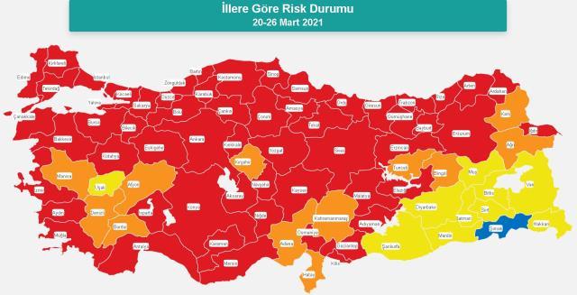 İl il koronavirüs vaka sayıları kaçtır? 17-23 Nisan İl il güncel koronavirüs risk haritası ve haftalık vaka sayıları açıklandı mı?