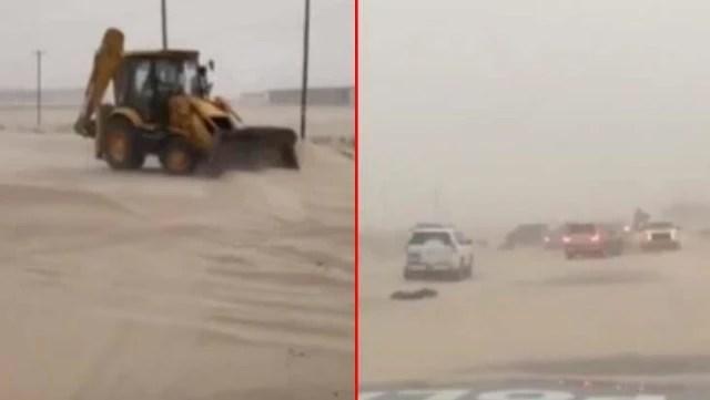 Göz gözü görmüyor! Kuveyt'i kum fırtınası vurdu, uyarılar art arda geldi