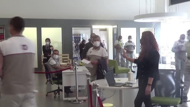 Bursa OSB'de çalışan 57 bin 860 kişi aşı oldu