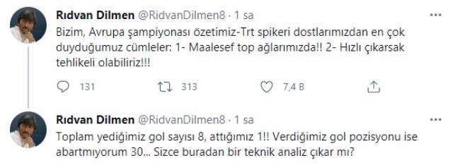 Rıdvan Dilmen, EURO 2020'ye veda eden A Milli Takım'ı eleştirdi: Verdiğimiz gol pozisyonu abartmıyorum 30