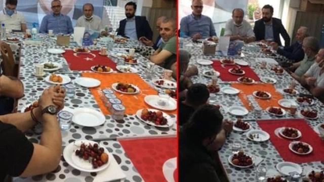 İlçe toplantısında Türk Bayrağı'nın üzerinde yemek yenmesi büyük tepki çekmişti! AK Partili başkan özür diledi