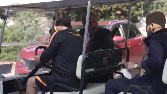 Direksiyonun başına geçen Fatih Terim, Başkan Burak Elmas'ı geziye çıkardı