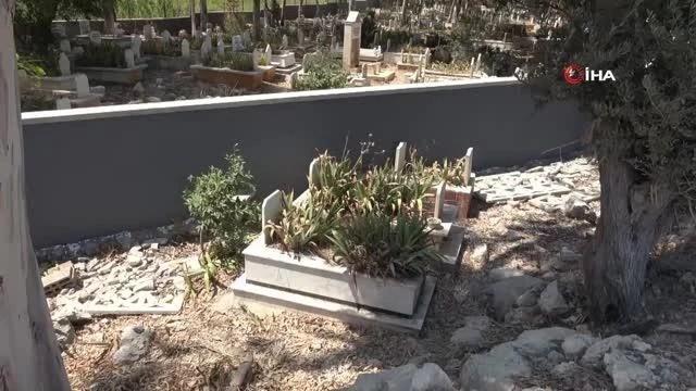 mezarliga duvar oruldu kabirler disarda kaldi 4 14231447 o