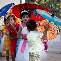 Shinbyu Parade in Bawdhitahtaung. (Myanmar)