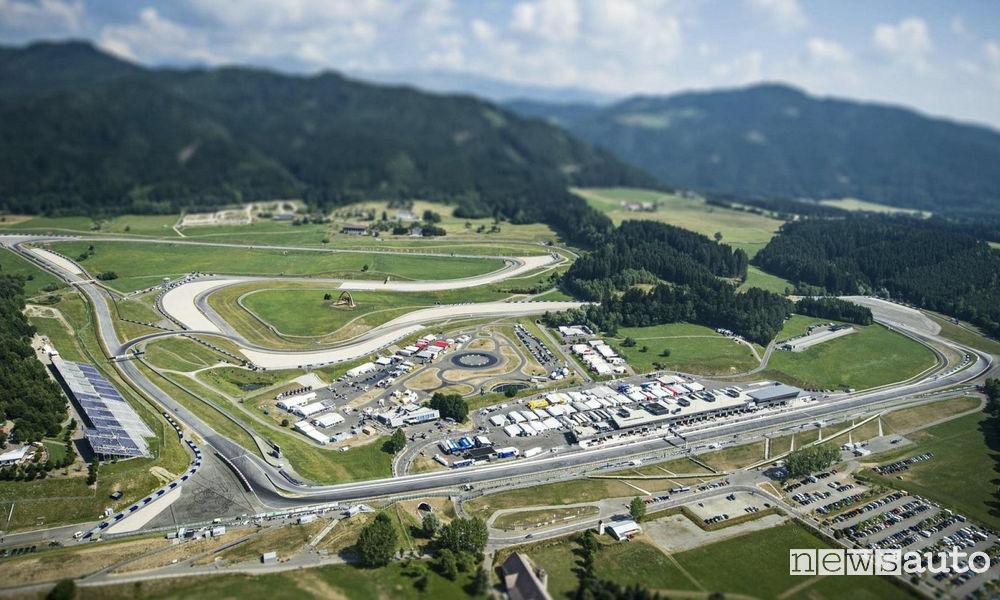 Red Bull Ring F1 circuit