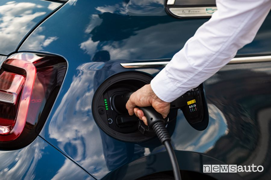 Electric car charging in Parma
