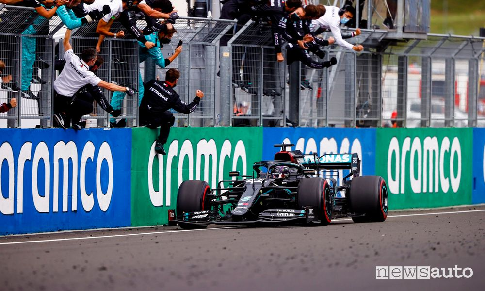 F1 Gp Hungary 2020, Mercedes victory with Hamilton