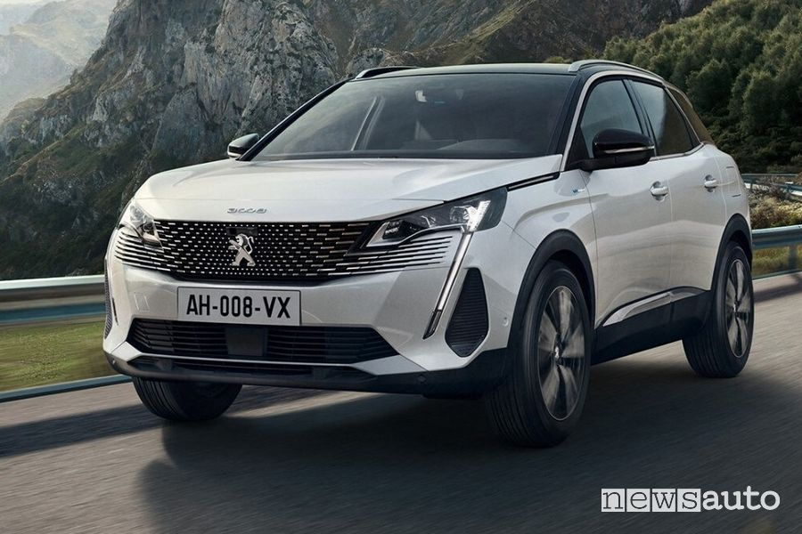 Front view of the new Peugeot 3008