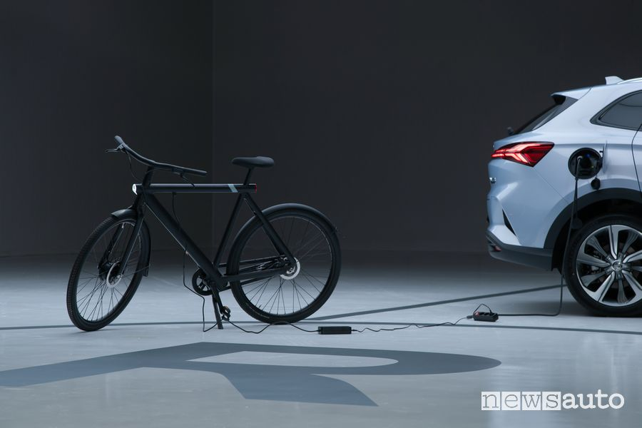 MG Marvel R Electric charges an electric bike