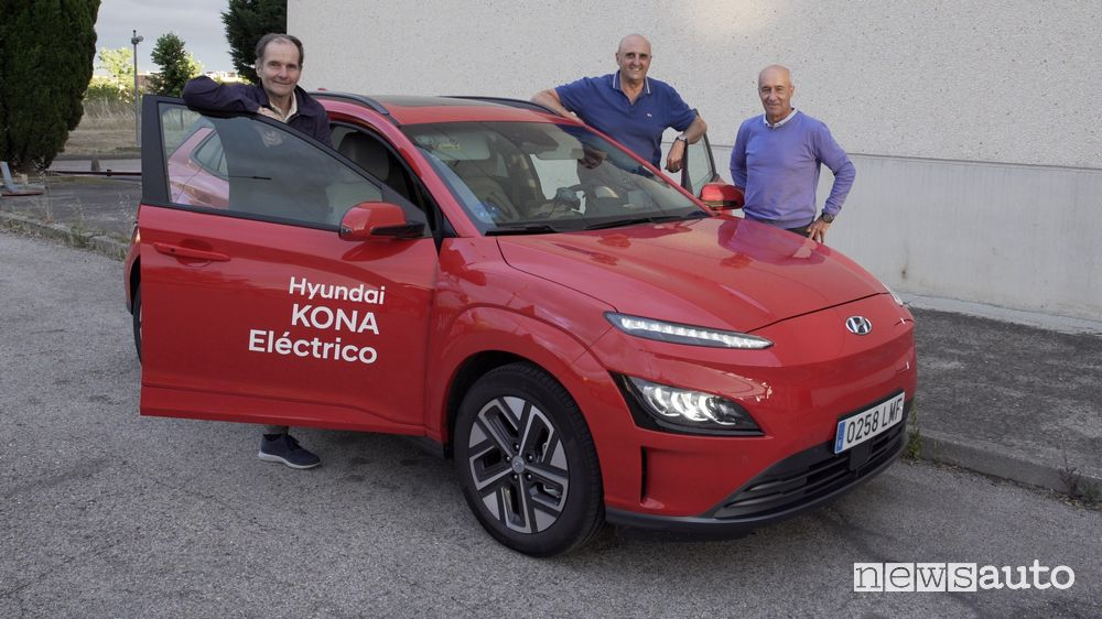 Hyundai Kona electric range in Madrid traffic