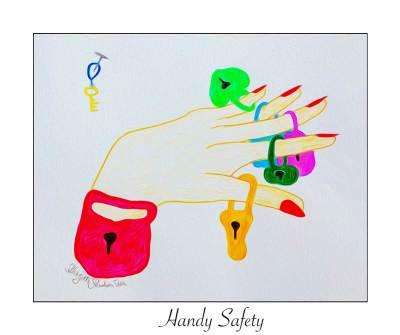 Crazy Art - Handy safety
