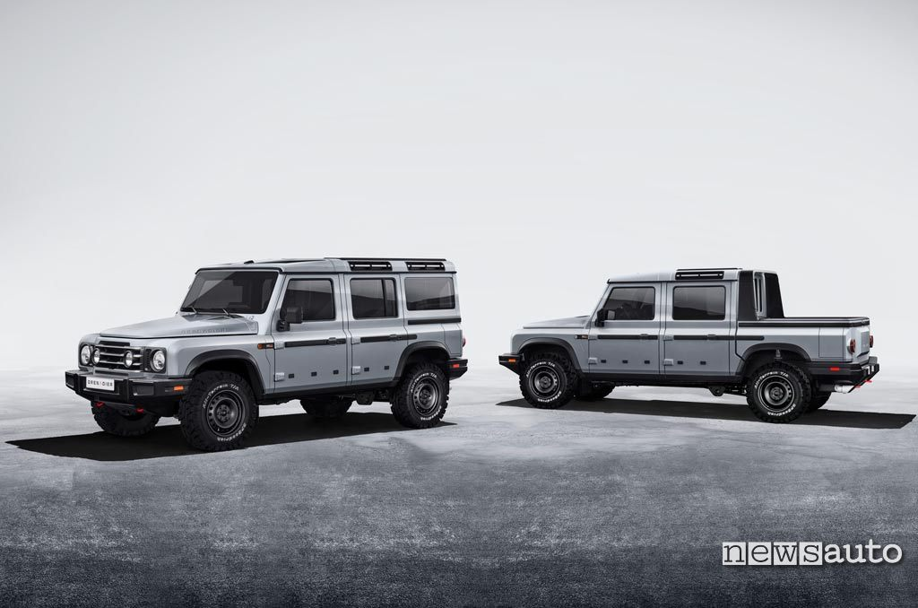 Ineos Grenadier available in 5-door and pick-up versions like the Defender