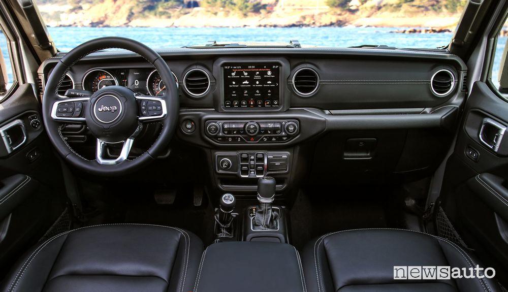 Jeep Gladiator Overland cockpit instrument panel