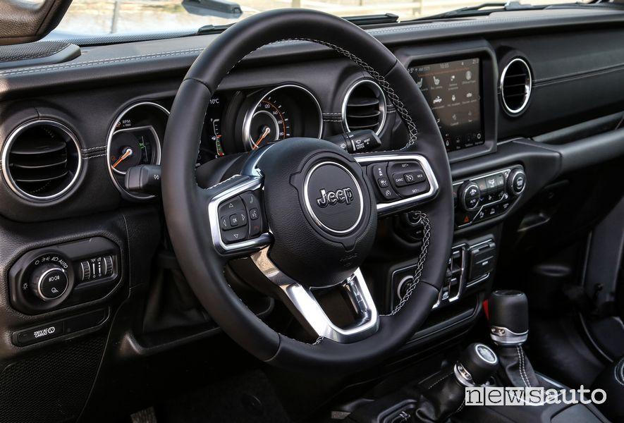 Jeep Gladiator Overland cockpit steering wheel