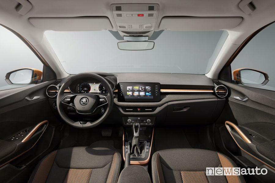 New Škoda Fabia cockpit instrument panel
