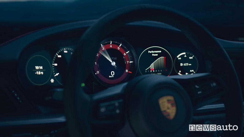 New Porsche 911 Carrera GTS instrument cluster